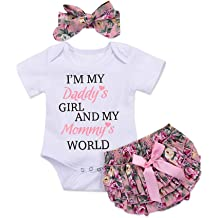 5 PCS BABY GIRL FLOWER romper bodysuit growbag gift Clothes Outfit Set 0-9 month